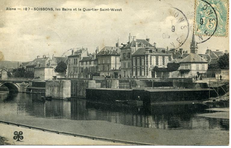 Soissons - Les Bains et le Quartier Saint-Waast