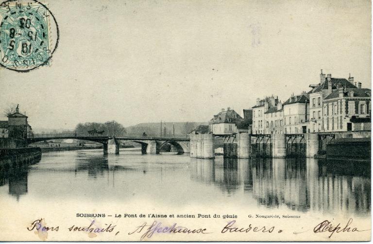 Soissons - Le Pont de l'Aisne et l'ancien Pont du Génie_0