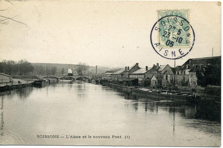 Soissons - L'Aisne et le nouveau Pont_0