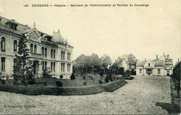 Soissons - Hospice - Bâtiment de l'Administration et Pavillon du Concierge_0