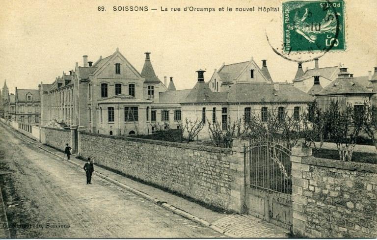 Soissons - La rue d'Orcamps et le nouvel Hôpital_0