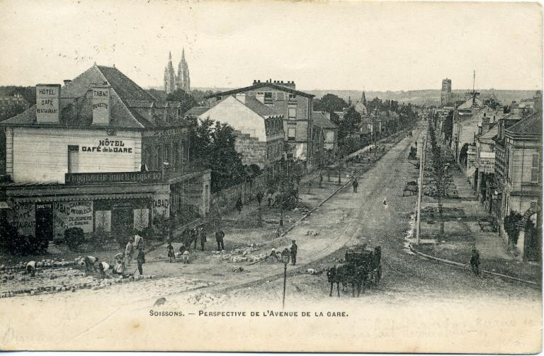 Soissons - Perspective de l'Avenue de la Gare_0