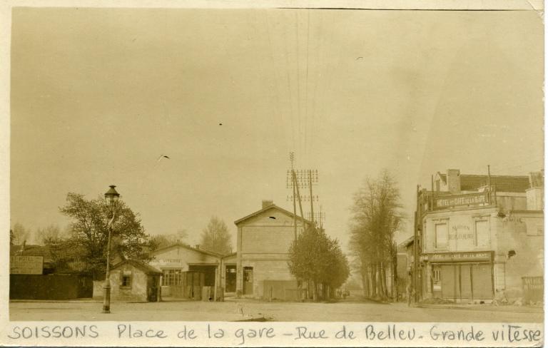 Soissons - Place de la gare - Rue de Belleu - Grande vitesse