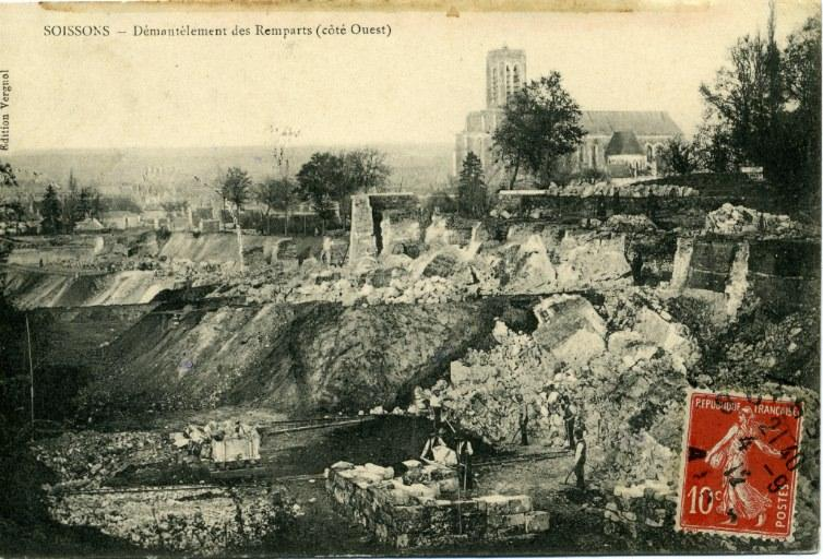 Soissons - Démantèlement des Remparts (côté Ouest)