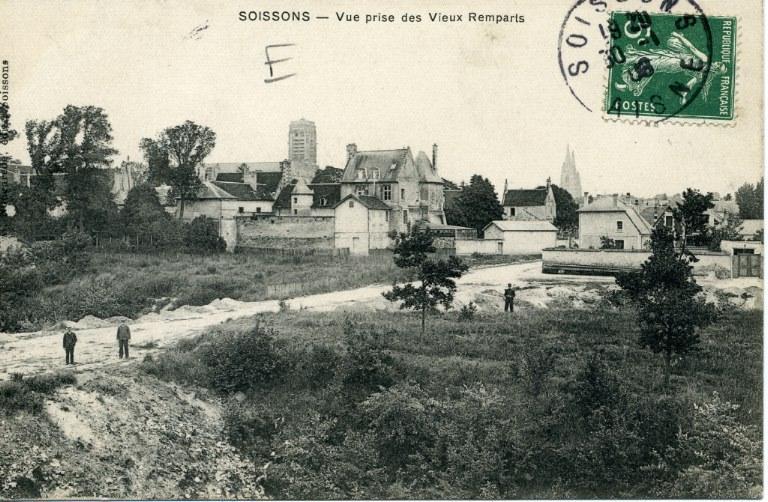 Soissons - Vue prise des Vieux Remparts