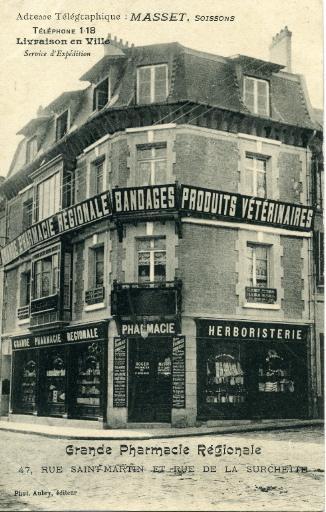 Soissons - Grande Pharmacie Régionale, 47, rue Saint-Martin et rue de la Surchette_0