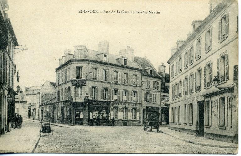 Soissons - Rue de la Gare et Rue Saint-Martin