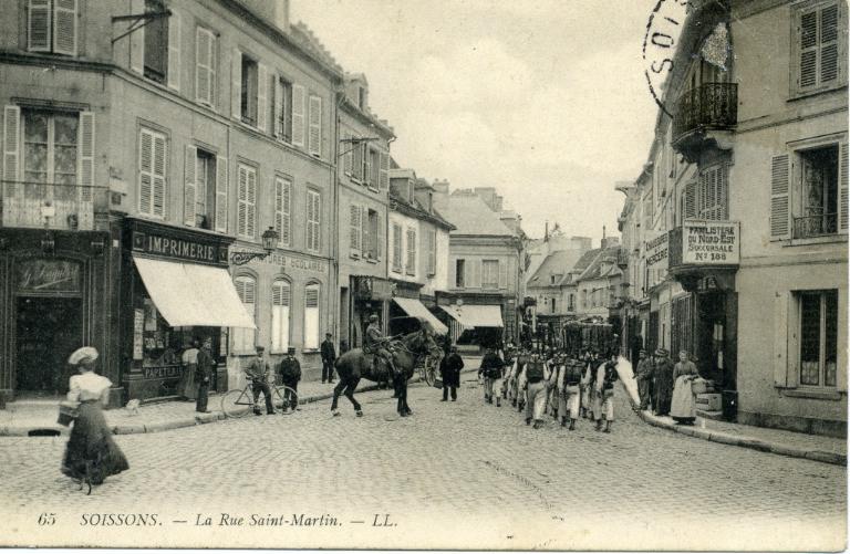 Soissons - La Rue Saint-Martin_0