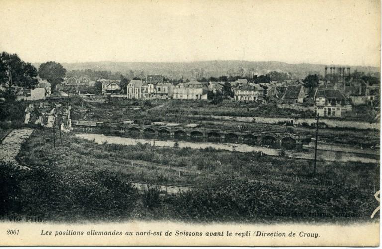 Soissons - Les positions allemandes au Nord-Est de Soissons avant le repli (direction de Crouy)_0