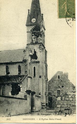 Soissons - L'église Saint-Waast