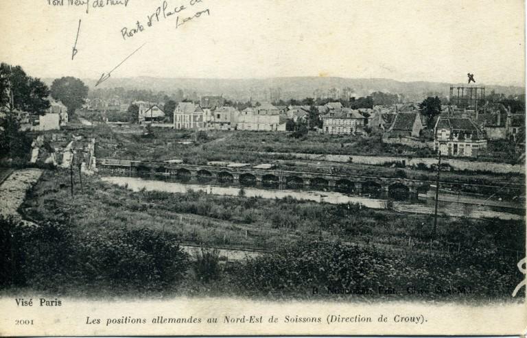 Soissons - Les positions allemandes au Nord-Est de Soissons (direction de Crouy)