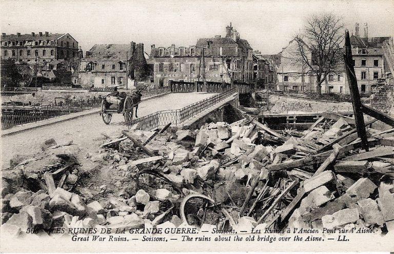 Les Ruines de la Grande Guerre - Soissons - Les Ruines à l'Ancien Pont sur l'Aisne_0
