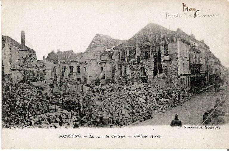Soissons - La rue du Collège