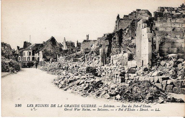 Les Ruines de la Grande Guerre - Soissons - Rue du Pot-d'Étain_0
