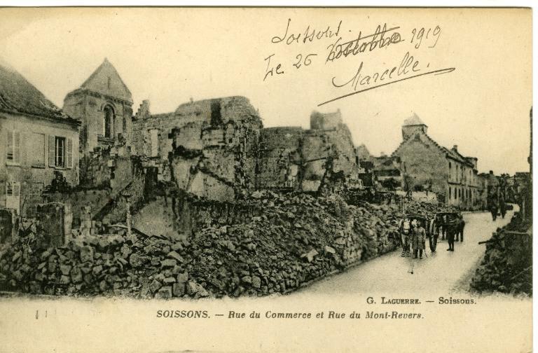 Soissons - Rue du Commerce et Rue du Mont-Revers