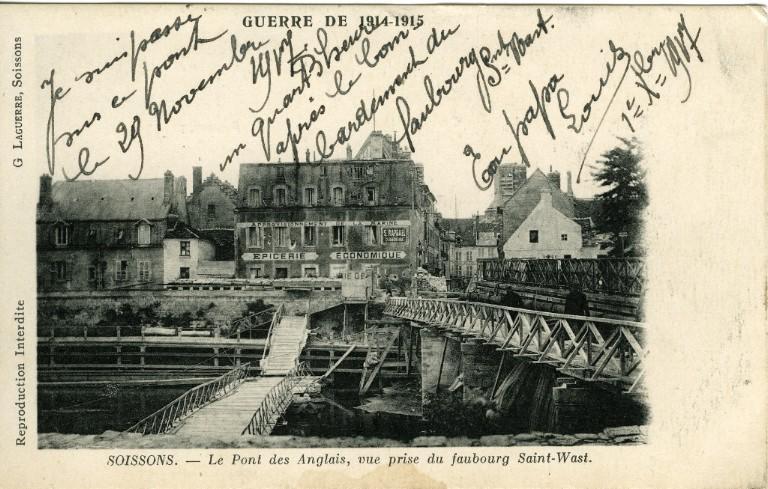 Soissons - Le Pont des Anglais, vue prise du faubourg Saint-Waast_0