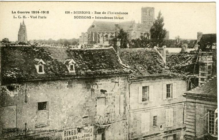 La guerre de 1914-1918 - Soissons - Rue de l'Intendance_0