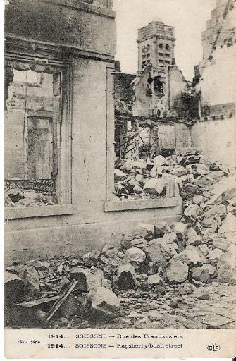 1914 - Soissons - Rue des Framboisiers_0