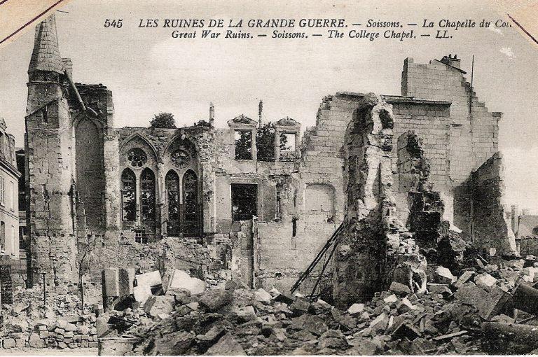 Les ruines de la Grande Guerre - Soissons - La Chapelle du Collège_0