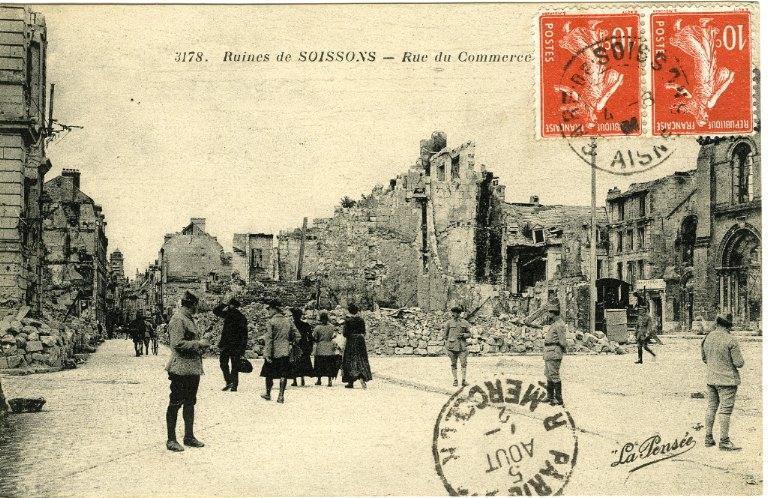 Ruines de Soissons - Rue du Commerce