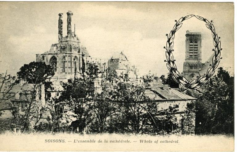 Soissons - L'ensemble de la cathédrale