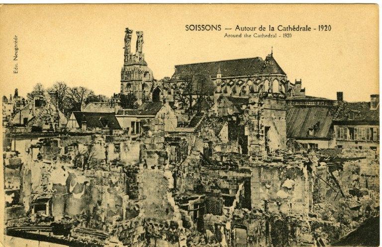 Soissons - Autour de la Cathédrale - 1920_0