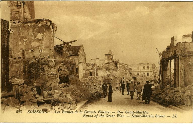 Soissons - Les Ruines de la Grande Guerre - Rue Saint-Martin_0