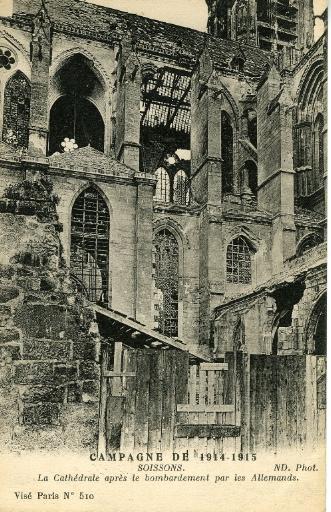 Campagne de 1914-1915 - La Cathédrale après le bombardement par les Allemands_0
