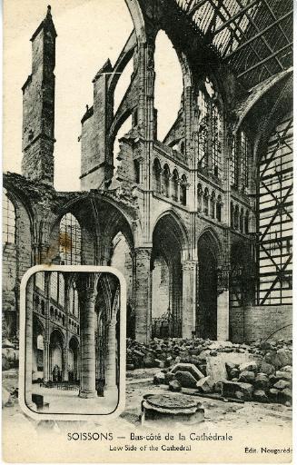 Soissons - Bas-côté de la Cathédrale