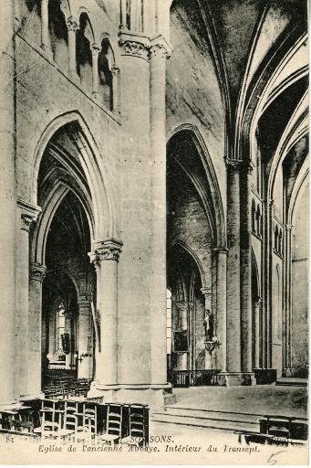 Soissons - Église de l'ancienne Abbaye - Intérieur du Transept_0