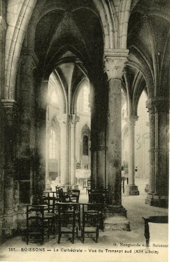 Soissons - La Cathédrale - Vue du Transept sud ( XIIe siècle)_0