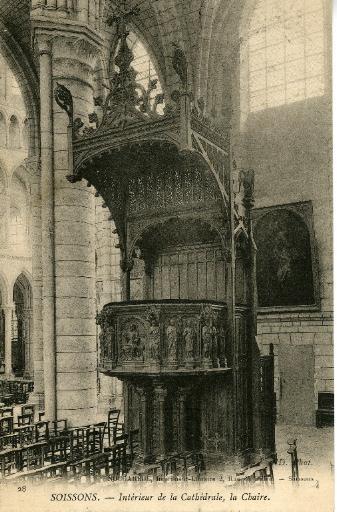 Soissons - Intérieur de la Cathédrale - La Chaire_0