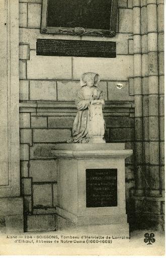 Soissons - Cathédrale - Tombeau d'Henriette de Lorraine d'Elboeuf, Abbesse de Notre Dame (1660-1669)_0
