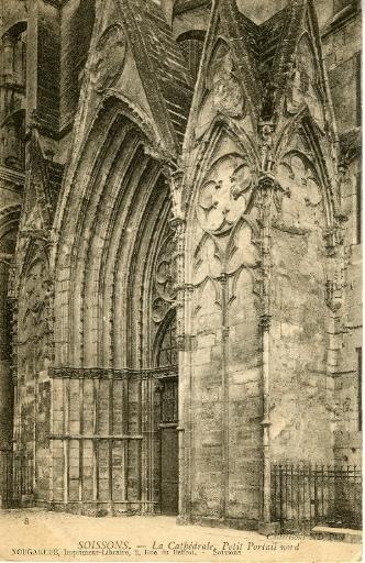 Soissons - La Cathédrale, Petit Portail nord_0