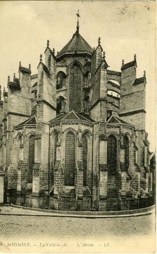 Soissons - La Cathédrale - L'Abside