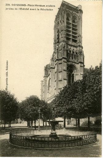 Soissons - Place Mantoue - Anciens jardins de l'Evêché avant la Révolution_0