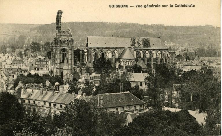 Soissons - Vue générale sur la Cathédrale