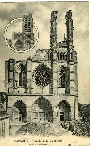 Soissons - Façade de la Cathédrale