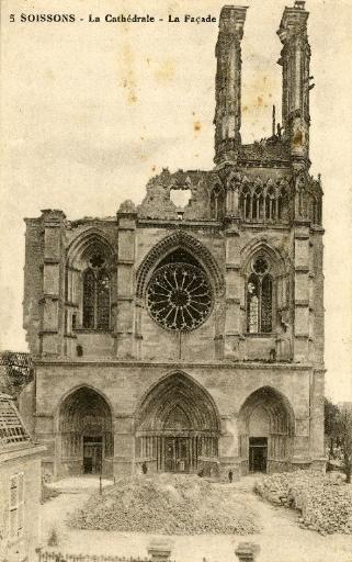 Soissons - La Cathédrale - La Façade_0