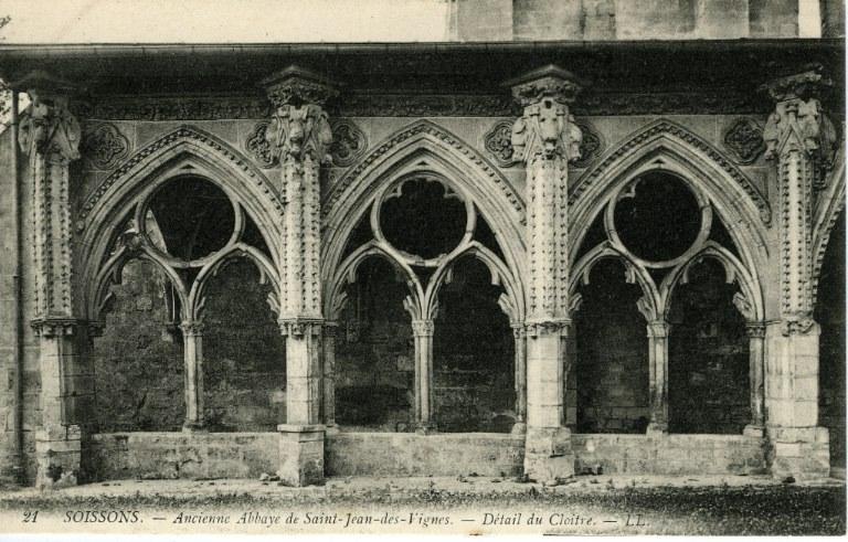 Soissons - Ancienne Abbaye Saint-Jean-des-Vignes - Détail du Cloître_0