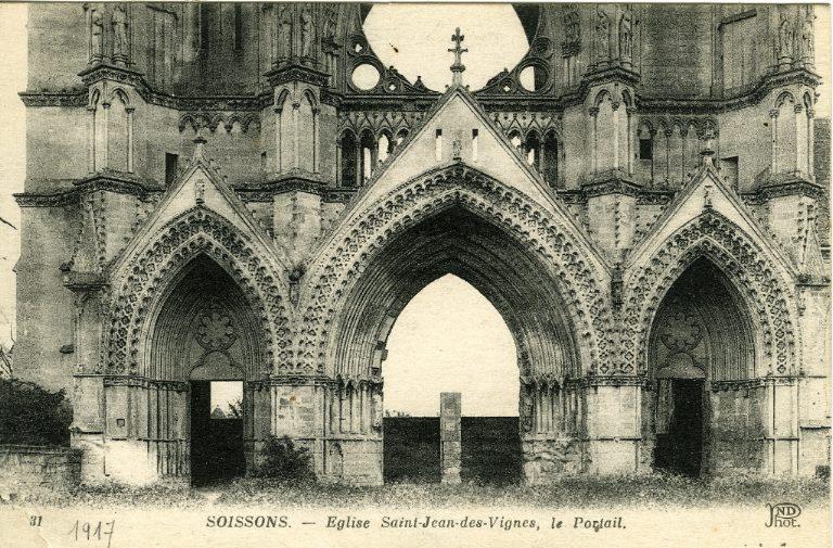 Soissons - Église Saint-Jean-des-Vignes, le portail_0