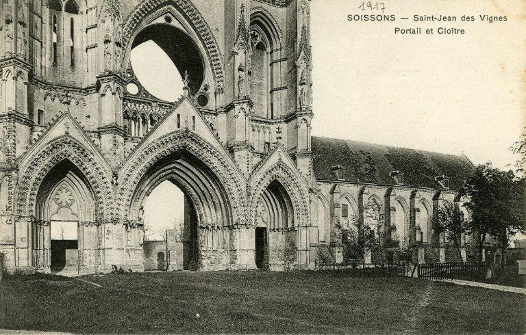 Soissons - Saint-Jean-des-Vignes - Portail et Cloître_0