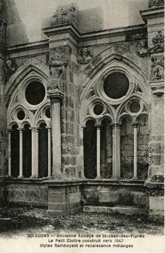 Soissons - Ancienne Abbaye Saint-Jean-des-Vignes -Petit Cloître construit vers 1547, styles flamboyant et renaissance mélangés_0