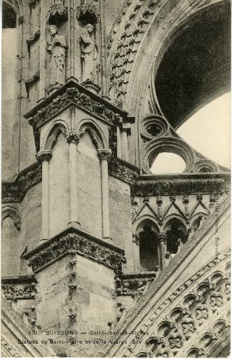 Soissons - Saint-Jean-des-Vignes - Statues de Saint-Pierre et de la Vierge (XIVème)_0