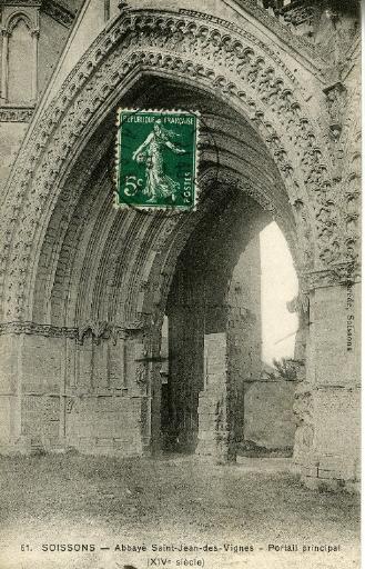 Soissons - Abbaye Saint-Jean-des-Vignes - Portail principal (XIVe siècle)_0