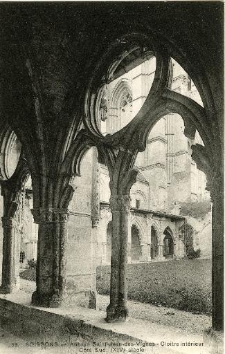 Soissons - Abbaye Saint-Jean-des-Vignes - Cloître intérieur. Côté Sud (XIVe)_0