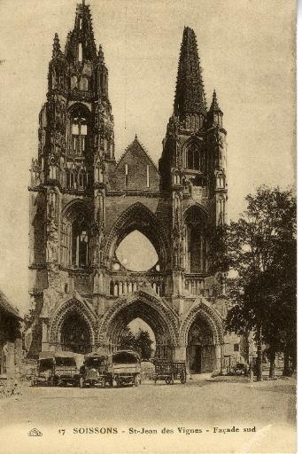 Soissons - Saint-Jean-des-Vignes - Façade Sud