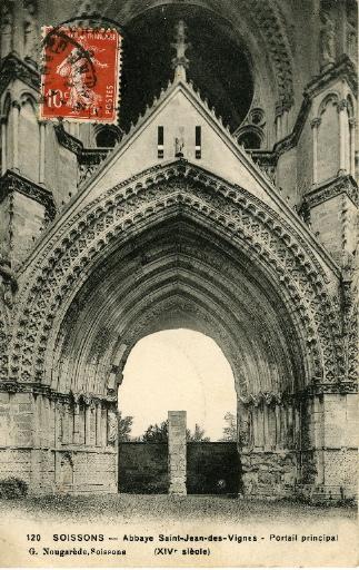 Soissons - Saint-Jean-des-Vignes - Portail principal (XIVe siècle)_0