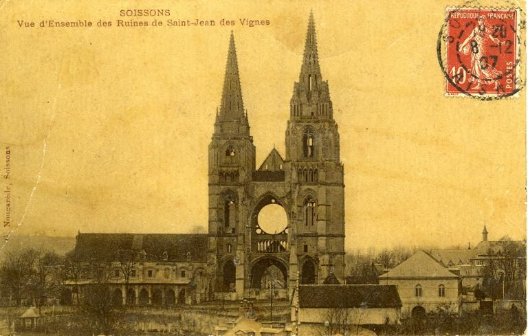 Soissons -Vue d'Ensemble des Ruines de Saint-Jean-des-Vignes_0
