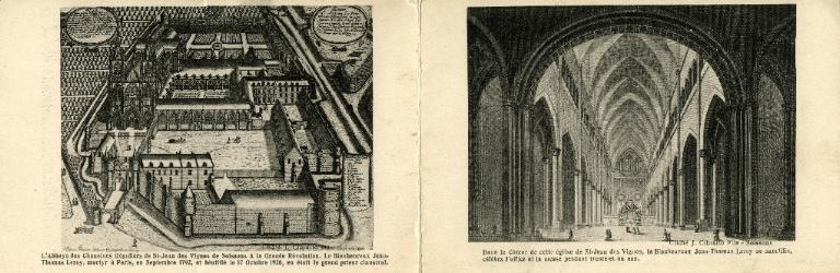 Saint-Jean-des-Vignes - L'abbaye des chanoines réguliers de Saint-Jean-des-Vignes de Soissons à la Grande révolution. Le Bienheureux Jean-Thomas Leroy, martyr à Paris, en Septembre 1792, et béatifié le 17 octobre 1926, en était le grand prieur claustral / Dans le coeur de cette église de Saint-Jean-des-Vignes, le Bienheureux Jean-Thomas Leroy se sanctifia, célébra l'office et la messe pendant trente et un ans_0